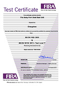 AFTD Seat-Unit Certificate BSEN 1022
