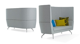 Pair of Cwtch High Back Sofas