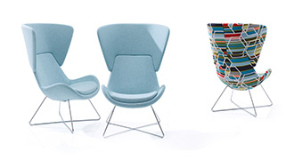 Avi Upholstered Chair on High Wire Frame Base
